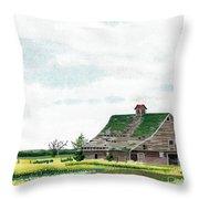 Empty Barn Throw Pillow
