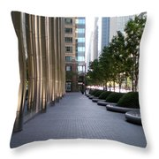 Empty Chicago Sidewalk Throw Pillow