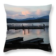 Empty Docks On Priest Lake Throw Pillow