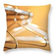 Empty Hangers Throw Pillow