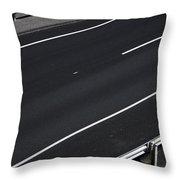 Empty Highway Throw Pillow