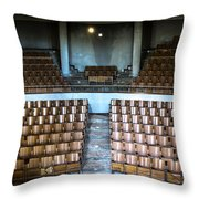 Empty Movie Theater - Urban Exploration Throw Pillow