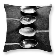 Empty Pan With Old Spoons  Throw Pillow