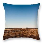 Empty Potato Fields Throw Pillow