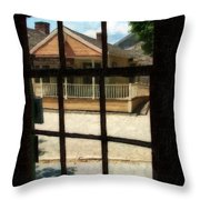 Empty Street On A Sunday Morning Throw Pillow