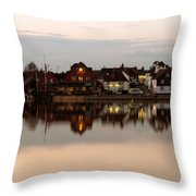 Emsworth At Dusk Throw Pillow