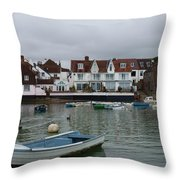 Emsworth Harbour 1 Throw Pillow