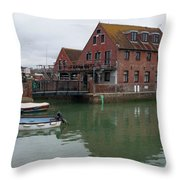 Emsworth Harbour 2 Throw Pillow
