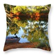 Emu Creek Station 2am-111427 Throw Pillow