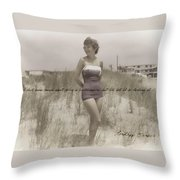 Emulating Marilyn Quote Throw Pillow