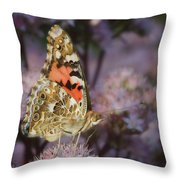 En Garde - Painted Lady - Butterfly Throw Pillow