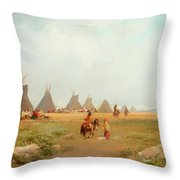 Encampment Throw Pillow