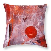 Encased In Red Throw Pillow