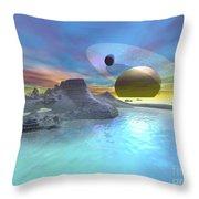 Enceladus Throw Pillow