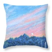 enchanced- Catching the SunSet Throw Pillow