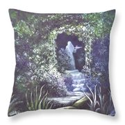 enchanced Temptation Coming Throw Pillow