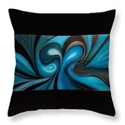 Enchanted Blue Waves Throw Pillow