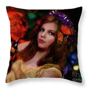 Enchanted Butterfly Throw Pillow