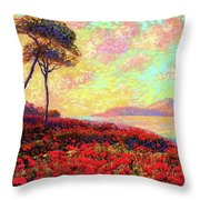 Enchanted By Poppies Throw Pillow