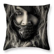 Enchanted Concept Black And White Throw Pillow