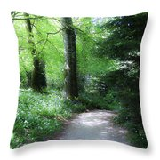 Enchanted Forest At Blarney Castle Ireland Throw Pillow