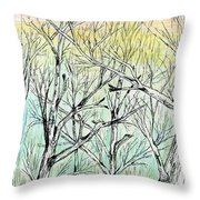 Enchanted Forest Music Throw Pillow