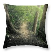 Enchanted Forrest Throw Pillow