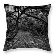 Enchanted Hau Forest Throw Pillow