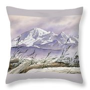 Enchanted Mountain Throw Pillow