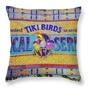 Enchanted Tiki Birds Throw Pillow