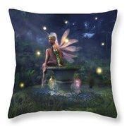 Enchantment - Fairy Dreams Throw Pillow