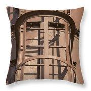 Enclosed Metal Fire Escape Throw Pillow