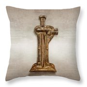Enclosed Screw Jack II Throw Pillow