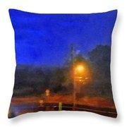 Encroaching Lightning Throw Pillow
