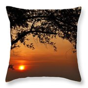 End Of A Day - 1 Throw Pillow