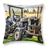 End Of A Days Work Throw Pillow