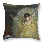 End Of An Arabesque Throw Pillow by Edgar Degas
