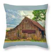 End Of An Era In Sailor Springs Illinois Throw Pillow