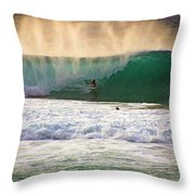 End Of Light Throw Pillow by Kevin Smith