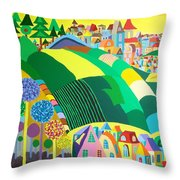 End Of May Throw Pillow