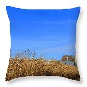 End Of Season Corn 2015 Throw Pillow
