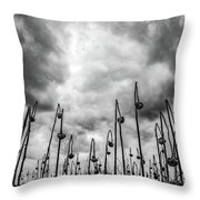 End Of Season Sunflowers Throw Pillow