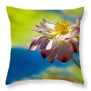 End Of Summer Lotus Throw Pillow