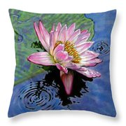 End Of Summer Shower Throw Pillow