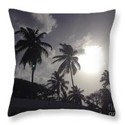 End Of The Day In The Islands Throw Pillow