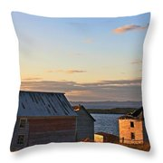 End Of The Day In Trinity Bay, Newfoundland Throw Pillow