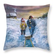 End Of The Day Throw Pillow by Jack Skinner