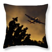 End Of The Day Milk Run Throw Pillow