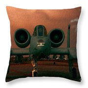 End Of The Mission Throw Pillow