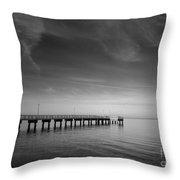 End Of The Pier Landscape Photograph Throw Pillow